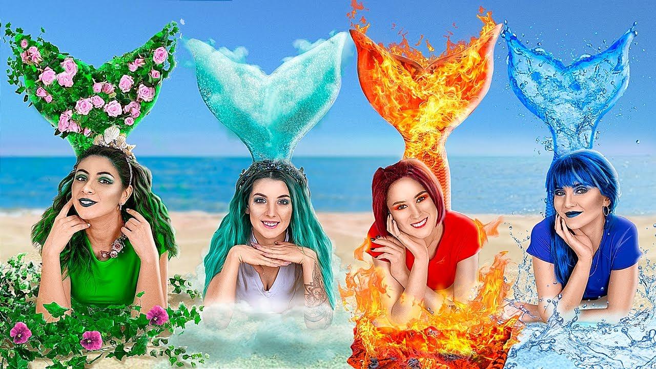 ¡Sirenas de Fuego, Agua, Aire y Tierra! / ¡Los Cuatro Elementos en la Universidad!
