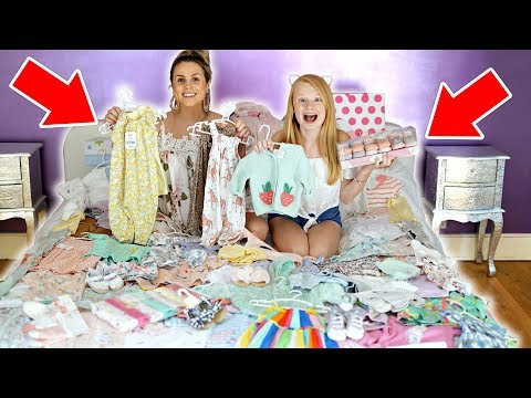 HUGE BABY GiRLS CLOTHES HAUL + WARDROBE TOUR 👶