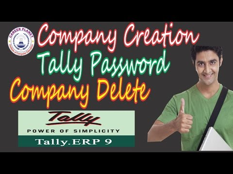 Tally ERP 9-Company Creation,Alteration,Tally Password,Vault Password,Delete Company  in Hindi Day-3