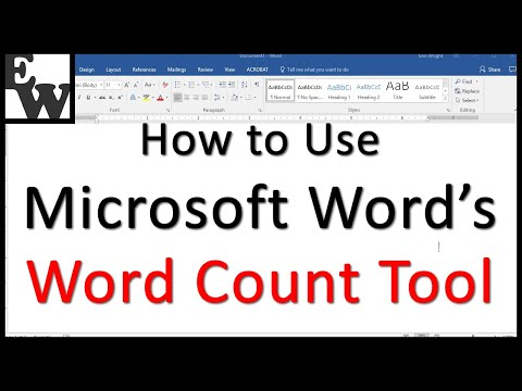How to Use Microsoft Word's Word Count Tool