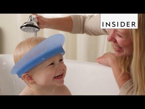 Bath Visor Makes Shower Time Easier for Kids