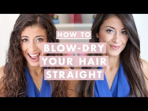 How to Blow-Dry Your Hair Straight (Step-by-Step)