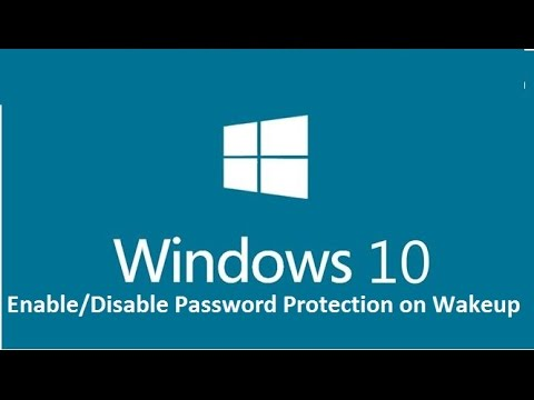 Enable or Disable Password Protection on Wakeup in Windows 10