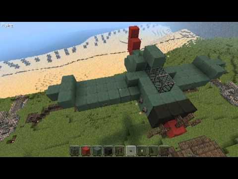 Minecraft Realistic WW2 Fighter Plane Tutorial