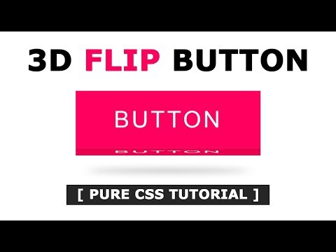 How to Create 3D Flip Button Effect on Mouse Hover Using Html And CSS - Pure CSS Tutorial