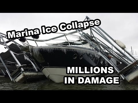 MARINA ROOF COLLAPSE from the ice storm at Pier 121 on Lake lewisville!