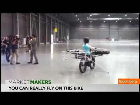 Flying 'Helicopter Bike'' Brings 'E.T.' to Real Life