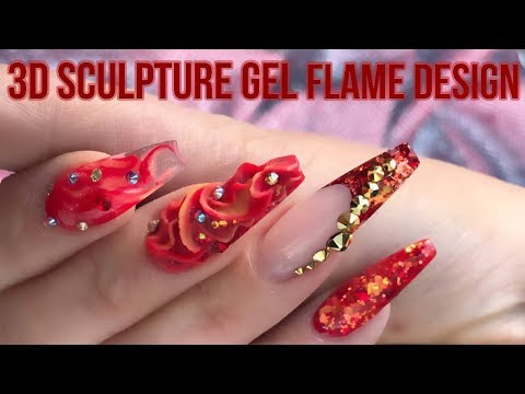 3D Sculpture Gel Flame Nail Design - A Song of Ice and Fire - Step by Step Tutorial - Naio Nails