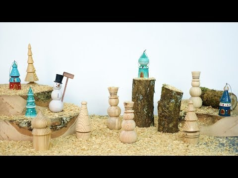 4 Easy To Make Christmas Decorations with a Lathe
