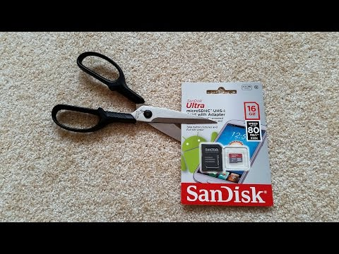 SanDisk Ultra microSDHC 16GB card unboxing and speed test UP TO 80MB !??
