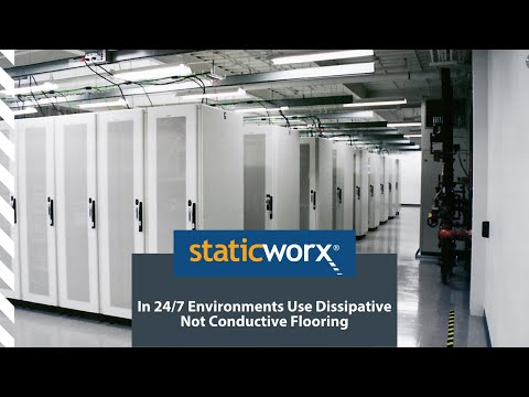 In Critical Environments Use Static Dissipative Not Conductive Flooring