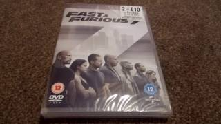 Fast And Furious 7 (UK) DVD Unboxing