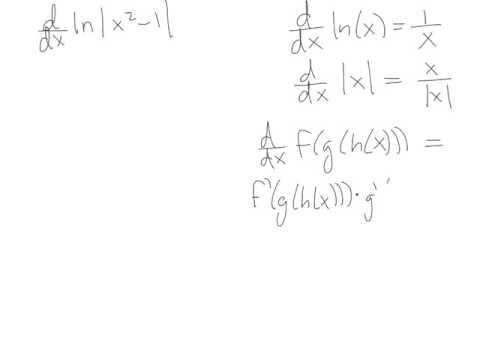 Derivative of ln(abs(x^2 - 1))