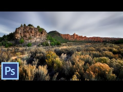 How to use Photoshop to Edit Your Landscape Images - Rocks and Bushes | Photoshop Tutorial