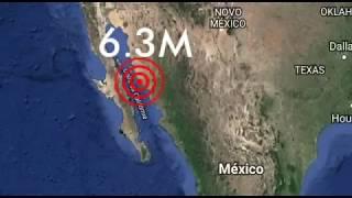 Violento Terremoto sacode Golfo Da Califórnia 19/01/2018