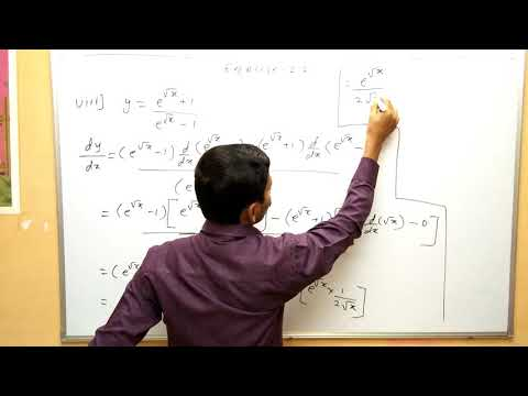 Differentiation part 5  Exercise 2.2 Derivative Maharashtra Board maths Class 12