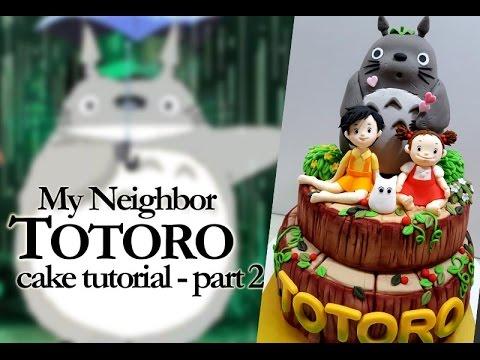 ::sugarcraft::totoro cake - part 2 토토로케이크 2편(토토로만들기)
