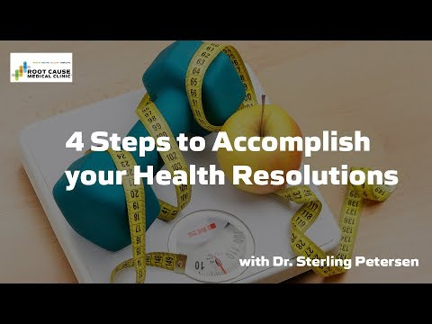 4 Steps to Accomplish your Health Resolutions with Dr. Sterling Petersen