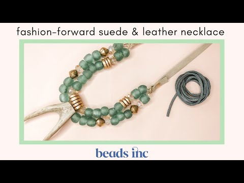 Fashion-Forward Suede & Leather Necklace Tutorial