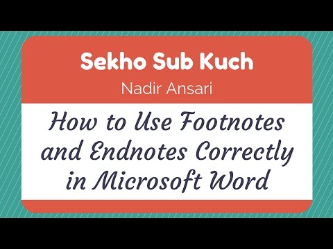 How to Use Footnotes and Endnotes Correctly in Microsoft Word [Urdu / Hindi]