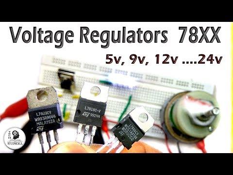 Voltage Regulator ic 78XX Tutorial with Practical Experiments