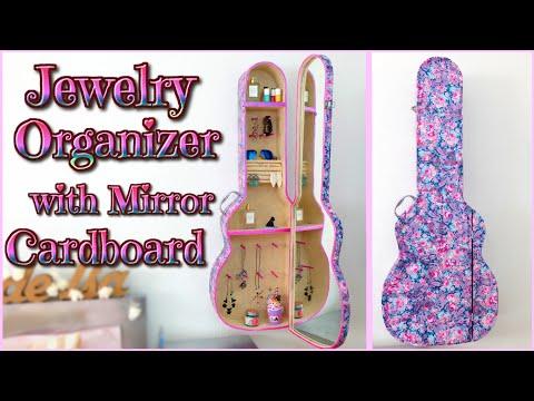 DIY ROOM DECOR - jewelry ORGANIZER cabinet with mirror - GUITAR CASE - Isa ❤️