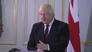 Secretary of State Tillerson takes press questions w/British Foreign Sec. Boris Johnson - 5/26/17