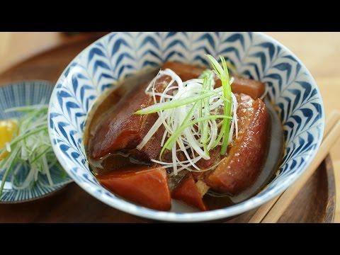 Herbal Braised Pork Belly With Burdock Root - 豚角煮牛蒡
