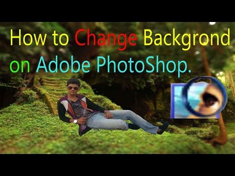 How to Change Photo Background In Adobe Photoshop 7.0 - Hindi / Urdu.