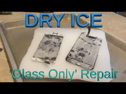 iPhone DRY ICE Screen Repair!! 'Glass Only'