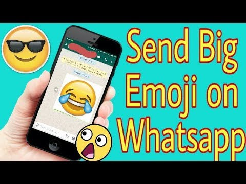 How to send Big / Large Emojis in Whatsapp, Facebook, Messenger, Snapchat