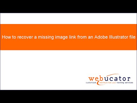 How to recover a missing image link from an Adobe Illustrator file