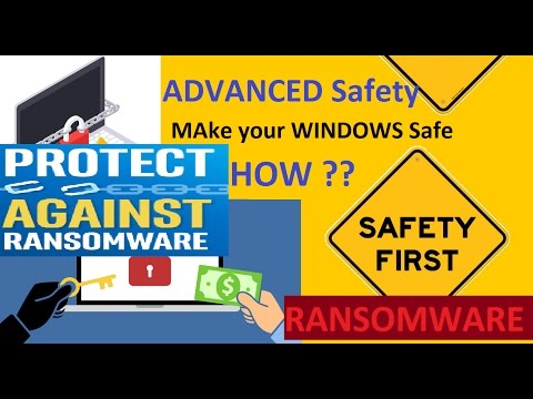 Advance Safety tips on Ransomware attacks ?? (Make safe your windows PC)
