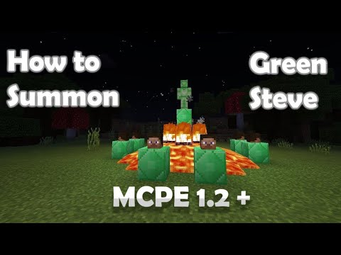 How To Summon Green Steve In MCPE 1.2+ | MrSlimeGuy