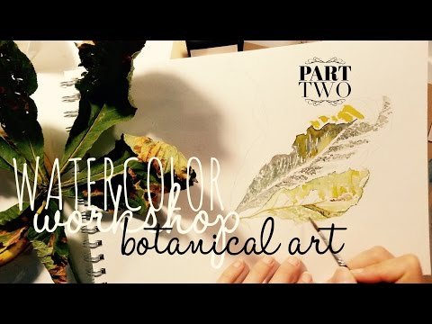 How to use Watercolors: Realistic Leaf Painting: Foundation - building layers & highlights
