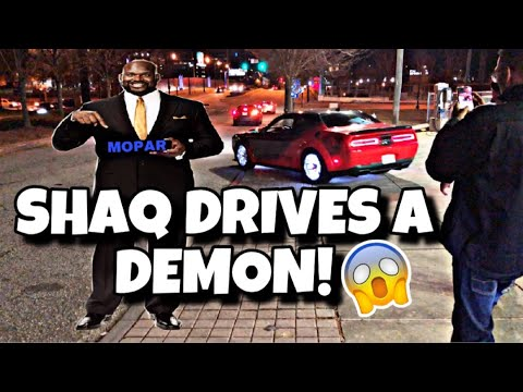 I MET Shaquille O'Neal!! His dodge demon is INSANE!