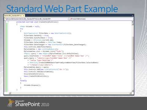 Standard WebParts for Sharepoint 2010