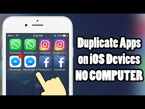 How to duplicate APPS on iOS 10 - iOS 10.3.3 - without a COMPUTER