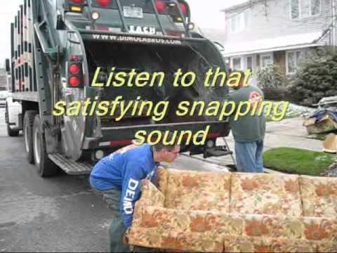 Dimola Bros Mega Sofa Crushing Video. From A Brooklyn Furniture Disposal in NYC