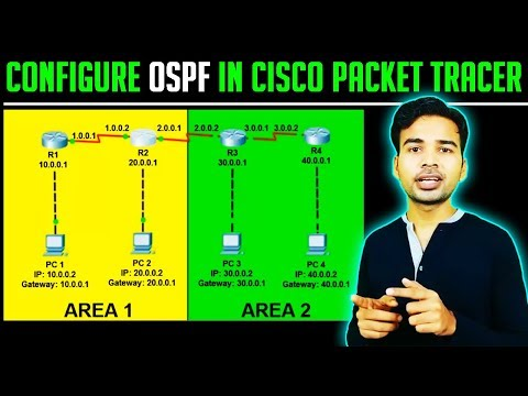 How to configure OSPF in Cisco Packet Tracer | OSPF configuration commands step by step | CCNA 2018