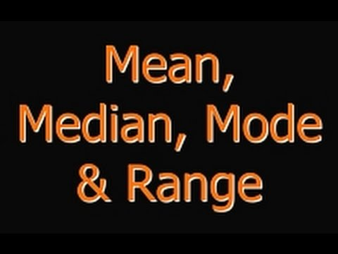 Mean, Mode, Median and Range Explained: Math Review for Everyone