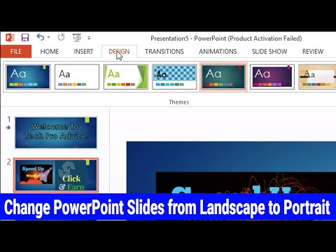 How to Switch From Landscape to Portrait Orientation in Powerpoint