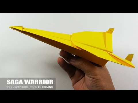 COOL PAPER AIRPLANE - How to make a Paper Airplane That FLIES | Saga Warrior