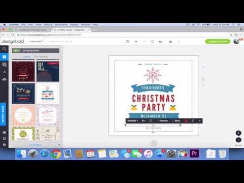 DesignBold: How to design a Christmas Invitation