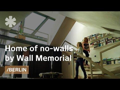 Escheresque-modern house allows flow by Berlin Wall memorial