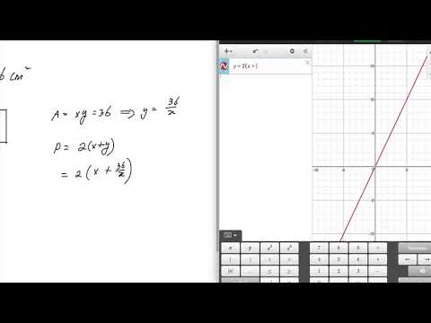 2  Finding Minimum Perimeter of Rectangle given Area