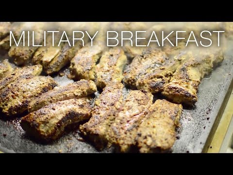 Military Breakfast – Culinary Specialists Cook Up Meals Inside Army Field Kitchens