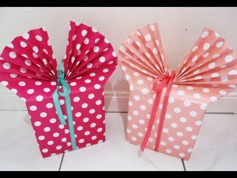 DIY : #208 How To Wrap Gift With Bow & Ribbon ❤
