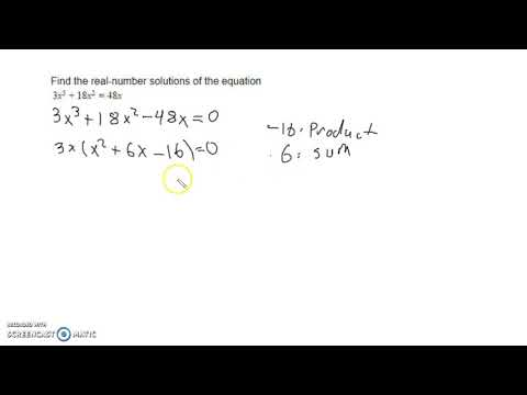 5.4 Find Real Number Solutions