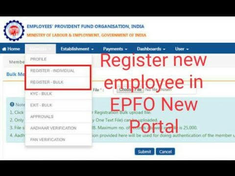 How register new Employee in EPFO/ UAN